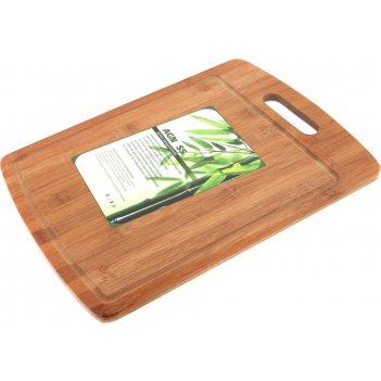 Доска разделочная agness 40*30*1 см бамбук (кор=12шт.)