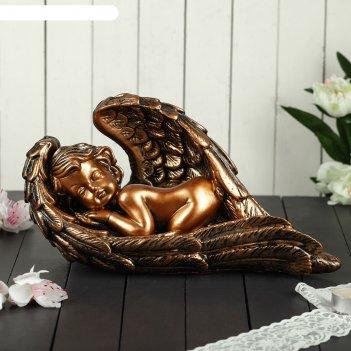 Статуэтка ангел в крыле большая, бронза