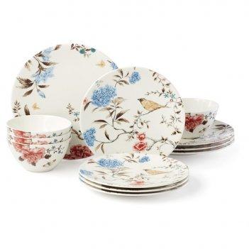 Сервиз столовый lenox цветущая лоза на 4 персоны, 12 предметов