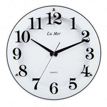 Настенные часы из стекла la mer gd221-2