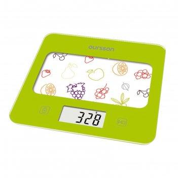 Весы кухонные oursson ks0501gd/ga, электронные, до 5 кг, сенсор, 1хcr2032,