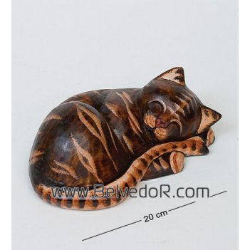 В1-0463 статуэтки спящий кот, 22 см.