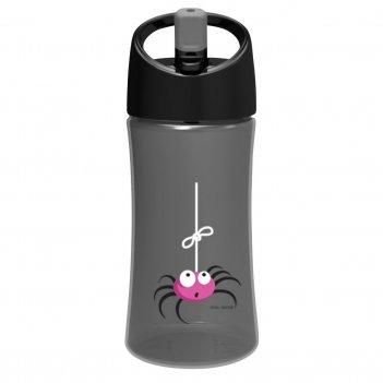 Детская бутылка для воды carl oscar spider 0.35л серая