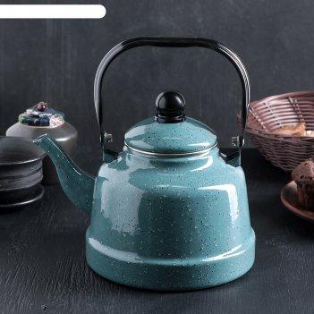 Чайник 2,5 л голубой мрамор 24х17х26 см