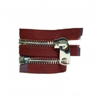 Молния для одежды, разъёмная, №12, 75 см, цвет чили
