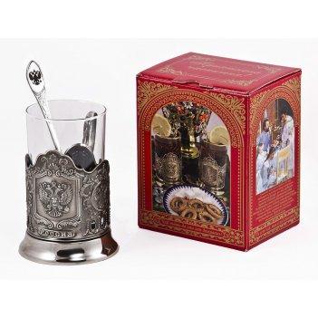 Набор для чая герб (3 пр.) арт. пд-89кс