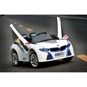 Электромобиль bmw i8 е111кх белый новинка 2014 года