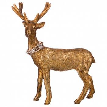 Фигурка олень со стразами 21*10*21 см без упаковки (мал-2 шт./кор=24 шт.)