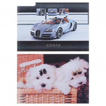 Альбом для рисования а4, 40 листов на скрепке №1 офсет, обложка картонная,