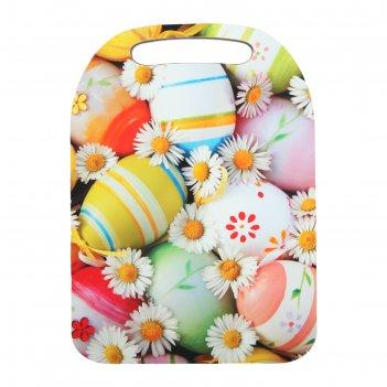Доска разделочная 21x29 см пасхальные яйца