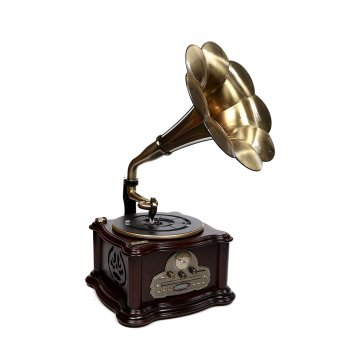 Музыкальный центр-ретро brigant с пультом: am/fm, cd, mp3, usb, sd, blueto