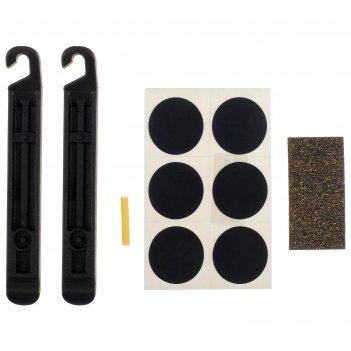 Аптечка для ремонта вело камер yc-129b самоклеящиеся ,заплатки,монтажки