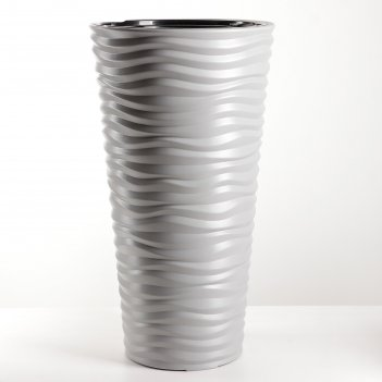 Кашпо со вставкой 42 л дюна, цвет серый