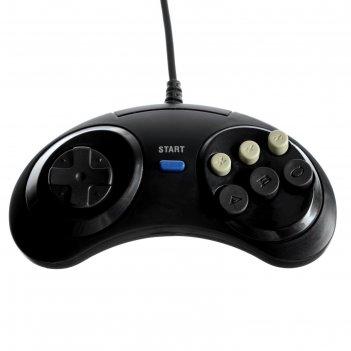 Джостик для игровой приставки sega mega drive, цвет чёрный