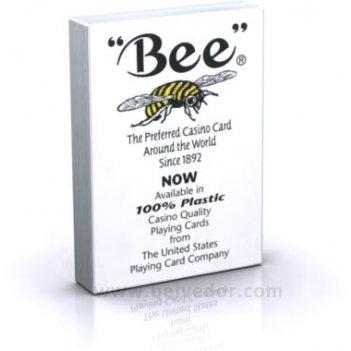 Пластиковые карты профессиональные bee 100% plastic для покера