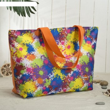 6910 п-600/д сумка пляжная bagamas, 57*12*40, отдел на молнии, оранжевый/а