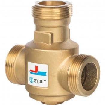 Клапан смесительный stout svm-0030-325508, 1 1/4 наружняя резьба,70°с