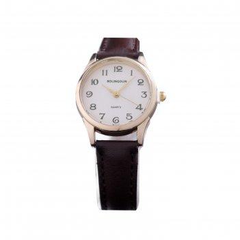 Часы наручные женские bolingdun 3458l, d=2.8 см, циферблат золото