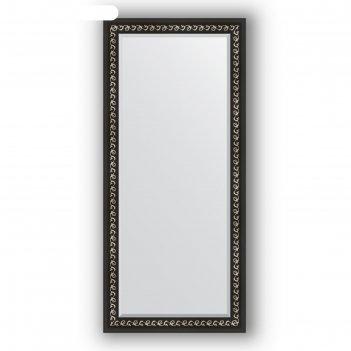 Зеркало с фацетом в багетной раме - черный ардеко 81 мм, 75 х 165 см, evof