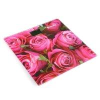 Весы напольные delta d-9233, электронные, до 150 кг, розовые розы