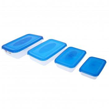 Набор контейнеров пищевых polar, 4 шт: 450 мл; 900 мл; 1,9 л; 3 л, цвет ми