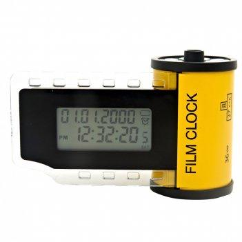 Часы настольные электронные с будильником кинематограф h=8см.
