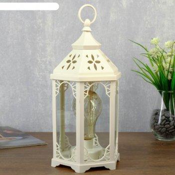 Ночник старый фонарь led белый 14х16,5х31 см
