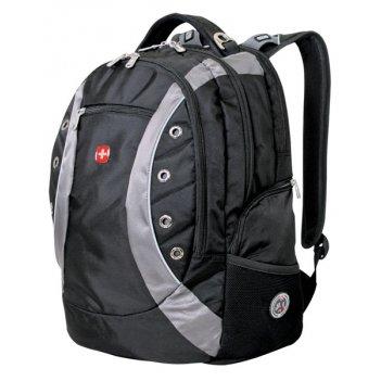 1191215 рюкзак wenger «zoom» цв. черно-серый