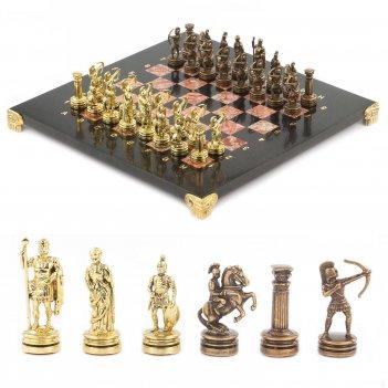 Шахматы лучники доска 280х280 мм лемезит змеевик металл