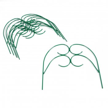 Ограждение декоративное, 55 x 300 см, 5 секций, металл, зелёное, «садовод»