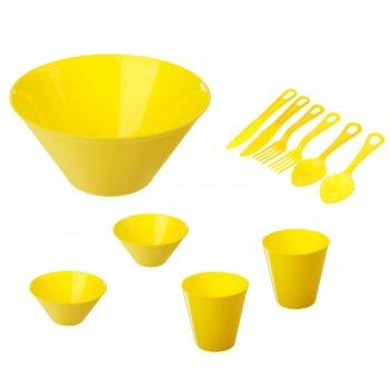Набор для пикника на 2 персоны желтый