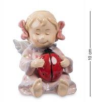 Cms-11/34 фигурка ангелочек-девочка (pavone)