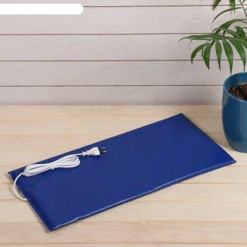 Электроподогревательный коврик для рассады, 52 x 25 x 1,5 см, цвет микс, «