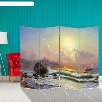 Ширма корабли. декор 18 200 x 160 см, двухсторонняя