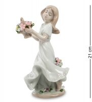 Jp-22/25 статуэтка девушка с цветами (pavone)