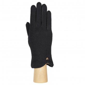 Перчатки женские натуральная кожа/шерсть (размер 8) черный