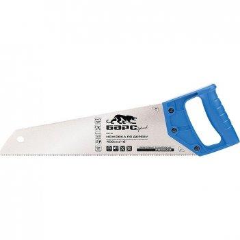 Ножовка по дереву, 400 мм/16, 7-8 tpi, короткий каленый зуб 2d, пластикова