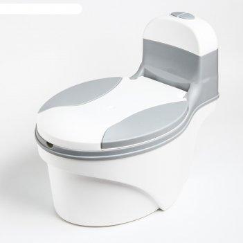 Горшок-унитаз, цвет белый/серый