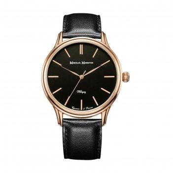 Часы наручные мужские мм, чёрный циферблат, чёрный ремешок, 1067a3l4