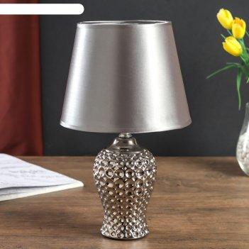 Лампа настольная абажур серебрянная пена 34х20х20 см