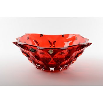 Фруктовница красная bohemia treasury samba rhabsody 30 см