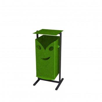 Урна «гном с улыбкой» 30л (зелёная)