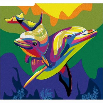 Фреска дельфин, а3