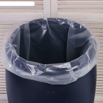 Мешок, вкладыш в бочку 50 литров,  50 х 100 см, 80 мкм (фасовка 5 шт)