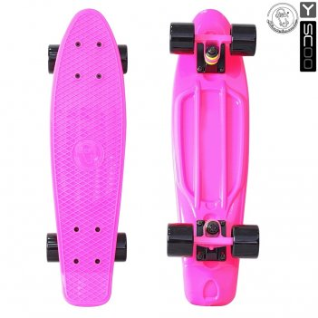 401-p скейтборд y-scoo fishskateboard 22″ винил 56,6х15 с сумкой pin