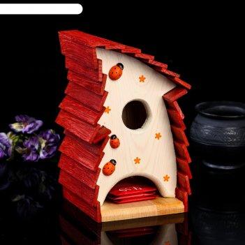 Чайный домик стрелка, 14*14*24см; материал: дуб, сосна; покрытие: аквалазу