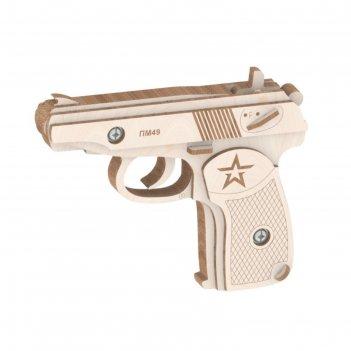 Конструктор из дерева «резинкострел пистолет»