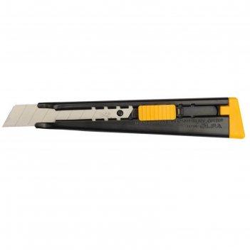 Нож olfa ol-ml, металлический, с выдвижным лезвием, автофиксатор, 18 мм
