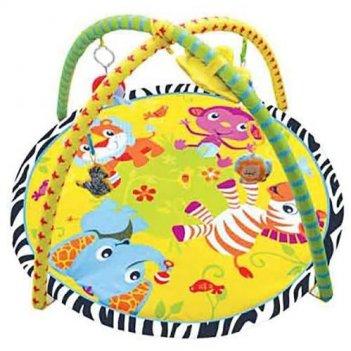 Игровой коврик с игрушками веселый зоопарк 1331-н25084/303в