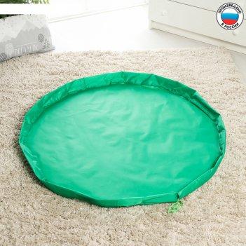 Сумка «котик», коврик для игрушек, зеленый, d100 см, оксфорд